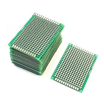saim pcb board prototype double sided diy pcb prototype solderable rh amazon com