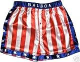 Rocky Balboa Apollo Movie Boxing American Flag Shorts (Medium)