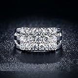 konkanok shopRings Zircon Ring Three Row Stone
