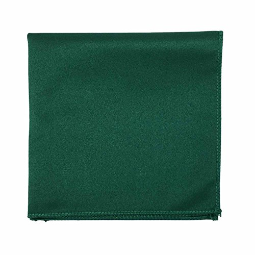Spencer J's Satin Pocket Squares Handkerchief Boys and Mens (Forest/Emerald / ()