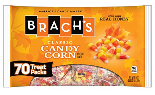 Brach's Candy Corn Treat Packs, 0.5 Ounce Packs, 70 Count