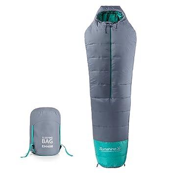 sanva profesional de saco de dormir momia saco de dormir 400 g/m² Ultraleicht pequeño cálido ...