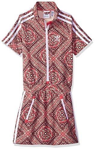adidas Originals Girls' Big Originals Graphic Dress, Multi/White, M