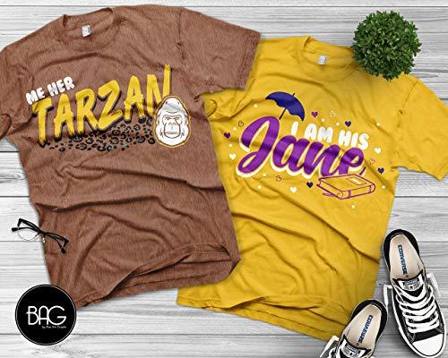 disney matching shirts, Tarzan and Jane, disney matching tees, disney trip, disney vacation, wifey, hubby, mickey mouse shirt, disney]()