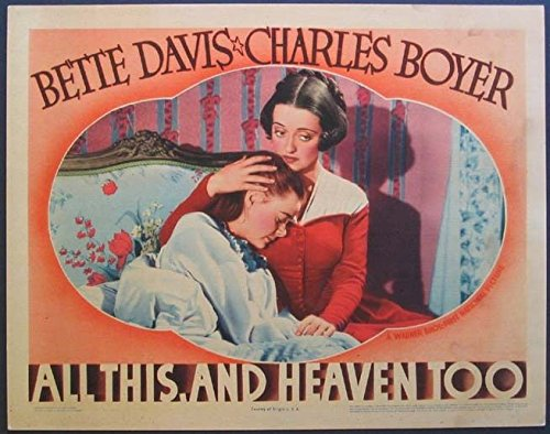 - ALL THIS AND HEAVEN TOO BETTE DAVIS 1940 LOBBY CARD