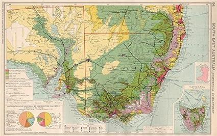 Map Of Nsw And Victoria Australia.Amazon Com Se Australia Nsw Victoria Commercial Agricultural