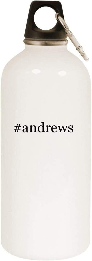 #andrews - 20oz Hashtag Stainless Steel White Water Bottle with Carabiner, White 51CZSx2sVzL