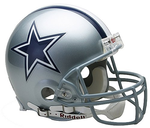 - NFL Dallas Cowboys Full Size Proline VSR4 Football Helmet