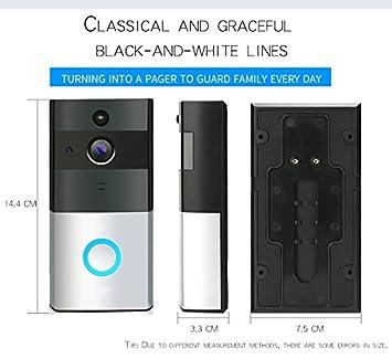 OnReal Timbre Inalámbrico, Habilite el timbre de la cámara de video HD Audio Intercomunicador de 2 vías, Detección de movimiento,Visión Nocturna por ...