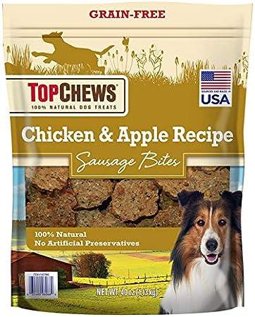 Top Chews Chicken & Apple Sausages 40 oz