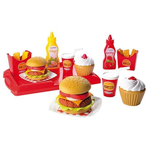 Ecoiffier Hamburger Set (36-Piece, Multi-Colour)
