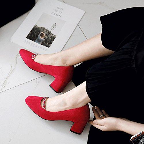 de Instituto solo La negrita del con luz zapatos la mujeres luz alta satén red de gama con 11r6z