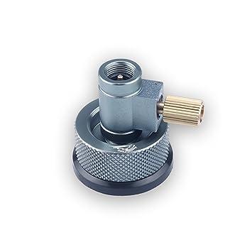 Lixada Válvula Frasco Convertidor de Gas Adaptador de Recarga de Gas + Adaptador de la Cabeza