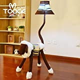 HOMEE Child cartoon lovely cloth floor lamp creative lamps bedroom table lamp study living room vertical table lamp / 3 colors available,3- Dimming switch