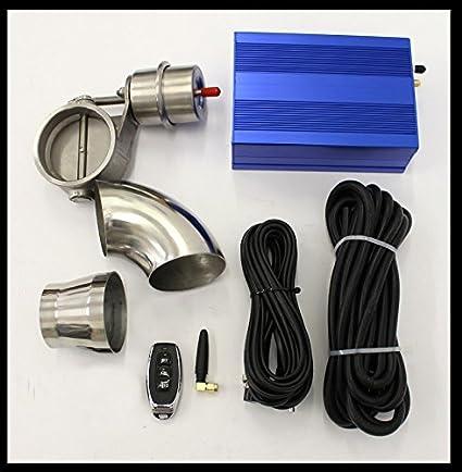 Sistema de escape con caja de vacío, tapa de presión negativa y punta de tubo de escape: Amazon.es: Coche y moto