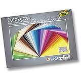 Folia 6125/50 99 Fotokarton (300 g/m², 25 x 35 cm, 50 Blatt, sortiert)