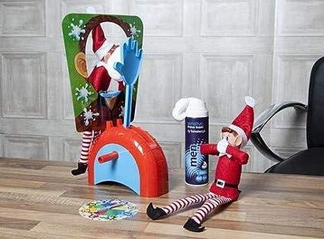 12pc Naughty ELF Mini Bowling Set Noël Cadeau Fantaisie Elfes mal jouet de Noel