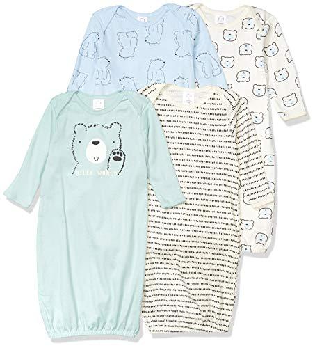 Gerber Baby 4-Pack Gown, Bear, Preemie