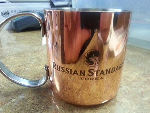 - Set of 2 Russian Standard Vodka English & Russian Logo Mugs