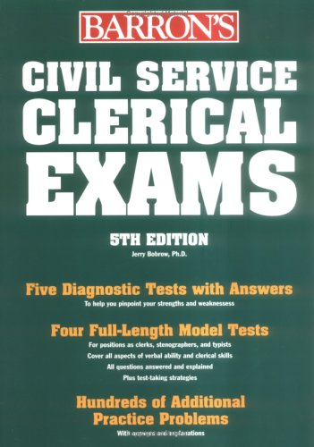 Civil Service Clerical Exams (BARRON'S HOW TO PREPARE FOR THE CIVIL SERVICE EXAMINATIONS)