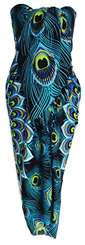 Sarong Wrap From Bali Your Choice of Design Beach Cover Up (Peacock Blue)]()