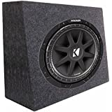 Kicker 43C124 12 300W 4-Ohm Car Audio Subwoofer Sub + Slim Shallow Truck Box