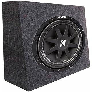 Sale Kicker 43C124 12' 300W 4-Ohm Car Audio Subwoofer Sub + Slim Shallow Truck Box