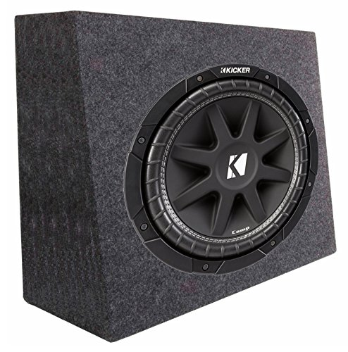 0W 4-Ohm Car Audio Subwoofer Sub + Slim Shallow Truck Box ()