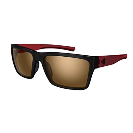 e11451e2a3e Ryders Eyewear Nelson Black Dark Red with AntiFog Brown with Silver Flash  Lens