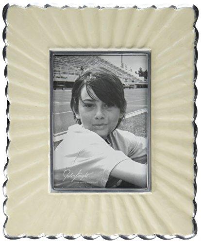 Julia Knight Peony Frame, 5 by 7-Inch, Snow, White Bridal Knight