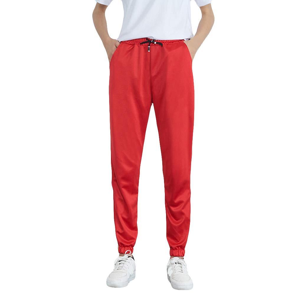 LHWY Damen Hosen Winter Frauen Mid-Waist Casual Striped Print Sporthosen Pluderhosen Jogger Pants