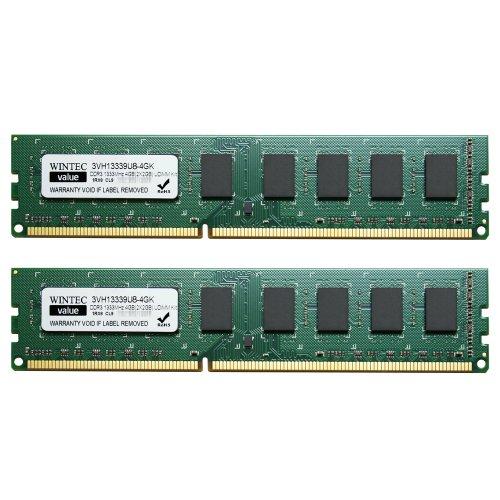 wintec value mhzcl9 4gb 2x2gb udimm kit 1rx8 4 dual