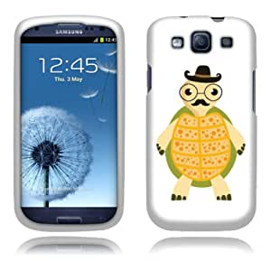 Fincibo (TM) Premium Hard Plastic Snap On Protector Cover Case Front And Back For Samsung Galaxy S3 III i9300 i747 L710 I535 T999, Cute Gentlemen Turtle