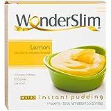 WonderSlim Low-Carb High Protein Instant Diet Pudding Mix- Lemon (7 Servings/Box) - Low Carb, Low Calorie, Low Fat, Aspartame Free