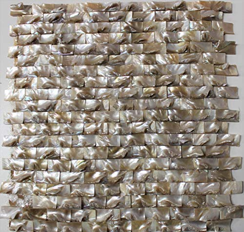 - Oyster Crown - Mother of Pearl Mosaic Shell Tile bar Wall Kitchen Ceiling Tiles