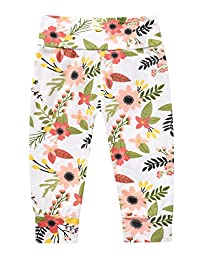 Baby Girls Flower Leaf Print Harem Pants Toddler Long Pants Trousers