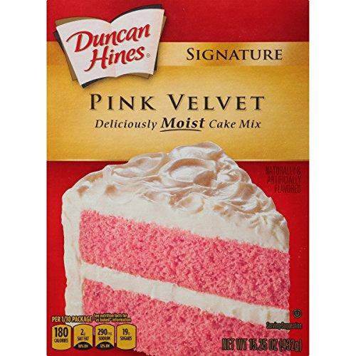 Duncan Hines Signature Cake Mix, Pink Velvet, 15.25 Ounce