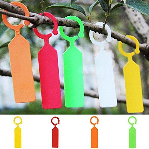 Lautechco 100pcs Hanging Plant Waterproof Tags Garden Flower Vegetable Planting Label Tools (Orange) by Lautechco® (Image #5)