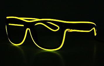 LED EL Draht Brille Leuchten Glühen Blinkend Sonnenbrillen für ...