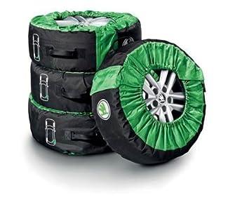 Skoda Original Funda para Ruedas Fundas hasta 18 Pulgadas Ancho de Neumático 245 mm: Amazon.es: Coche y moto