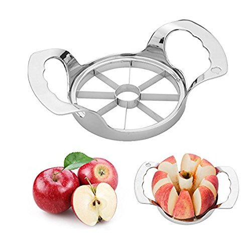 Eastever Stainless Steel Apple Slicer Corer, Apple Cutter Divider Wedge 8 Blades - Razor Sharp, Non Slip & Good Grip Kitchen Gadgets