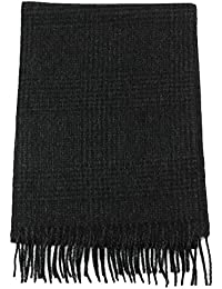 Men's Soft and Luxurious 100% Pure Wool Long Winter Scarf, Premium Quality