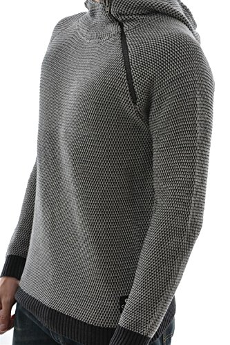 pull hiver Jack And Jones jjcocullen knit hood gris