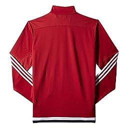 adidas Men\'s Soccer Tiro 15 Training Jacket, Power Red/White/Black, Medium