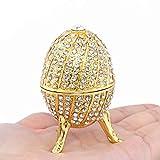 Handmade Unique Gift Gold Plated Faberge Egg Decoration Box Trinket Box Easter Egg