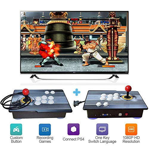 XFUNY Arcade Game Console 1080P 3D & 2D Games 2020 in 1 King of Fighters Pandora's Box 3D 2 Players Arcade Machine with Arcade Joystick Support Expand 6000+ Games for PC / Laptop / TV / PS4