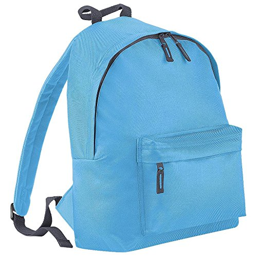 Children's Backpack by BagBase - 13 Colours to choose - Surf Blue/Graphite grey