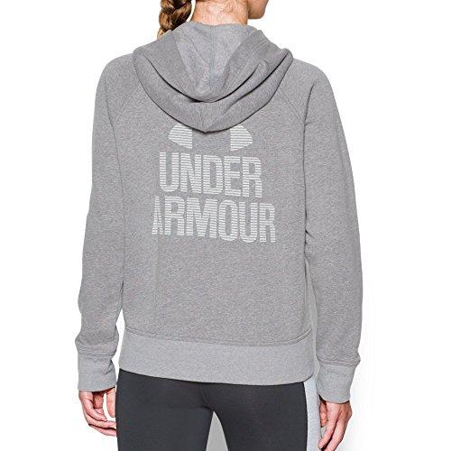 Under Armour Women's Favorite Fleece 1/2 Zip, Graphite Light Heath (041)/White, Small