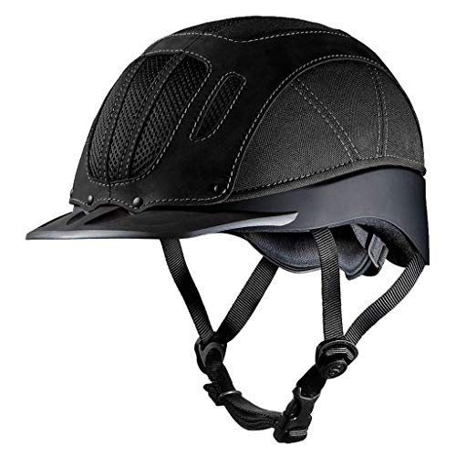 Troxel Sierra Horse Riding Western Helmet Low Profile Adjustable (XL, Black) ()