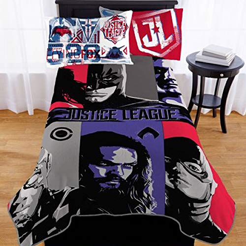 Justice League Heroes Kids Twin Bedding Blanket